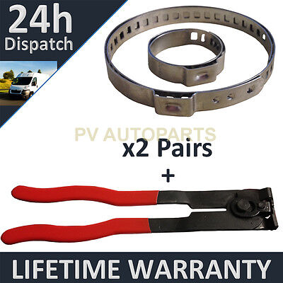 CV BOOT CLAMPS PAIR x2 EAR PLIERS x1 UNIVERSAL STAINLESS FITS ALL CARS KIT 32