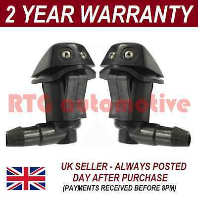 PAIR UNIVERSAL WINDSCREEN WASHER TWIN JET ANGLED INLET PUSH FITTING 4MM WWY3