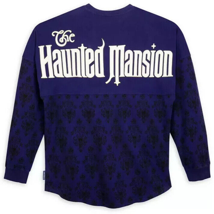 Disney Parks Spirit Jersey The Haunted Mansion Ghost Host Purple Large (L)