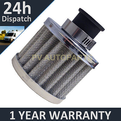 Universal Mini Oil Air Breather Filter 9mm Silver