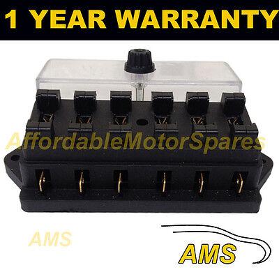 NEW 6 WAY UNIVERSAL STANDARD 12V 12 VOLT ATC BLADE FUSE BOX / COVER CAMPER VAN