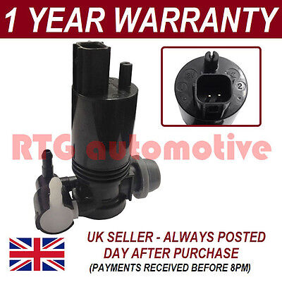 FOR FORD FIESTA MK5/6 2002- FRONT REAR TWIN OUTLET WINDSCREEN WASHER FLUID PUMP