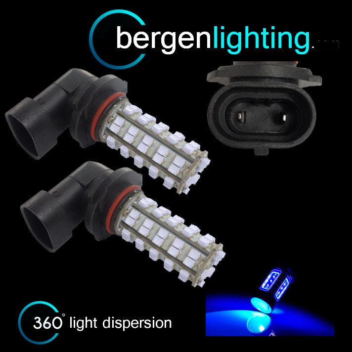 2X HB3 9005 BLUE 60 LED FRONT MAIN HIGH BEAM LIGHT BULBS CAR KIT XENON MB500801