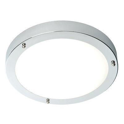 Saxby Modern Chrome 60W Double Insulated Bathroom Flush Ceiling Light Zone 1 2 3