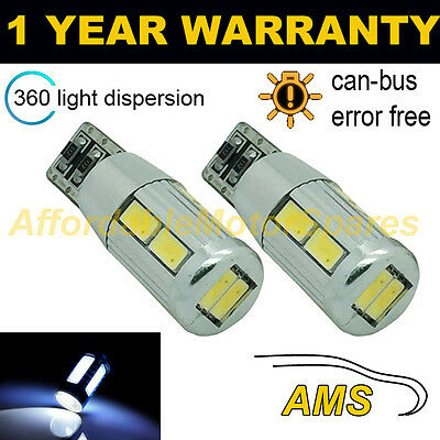 2X W5W T10 501 Canbus Libre de Errores Blanco 10 SMD LED...