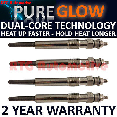 4X FOR FORD TRANSIT TOURNEO CONNECT 1.8 TDCI DIESEL HEATER GLOW PLUGS GP52403