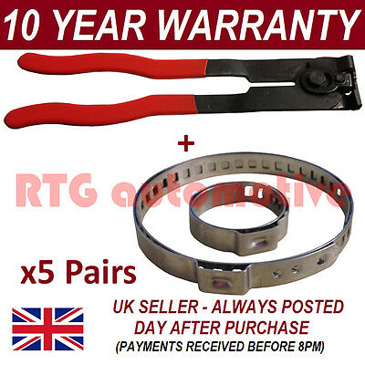 CV BOOT CLAMPS PAIR x5 EAR PLIERS x1 UNIVERSAL FITS ALL CARS KIT 35