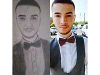 i draw portrait executed in pencil