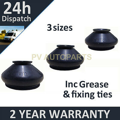 UNIVERSAL BALL JOINT TRACK ROD END RUBBER BOOT GAITER KIT  GREASE FITS ALL CARS