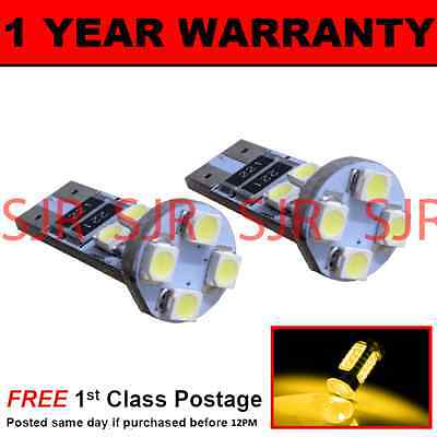 W5W T10 501 CANBUS ERROR FREE XENON AMBER 8 LED SIDE REPEATER BULBS X2 SR101602