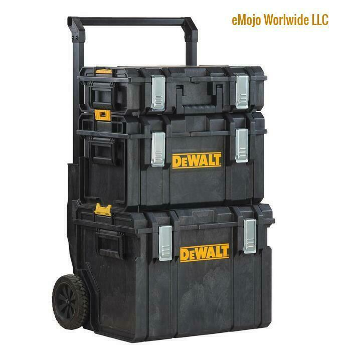 Dewalt Tool Box Large Mobile Travel Storage With Wheels Toug