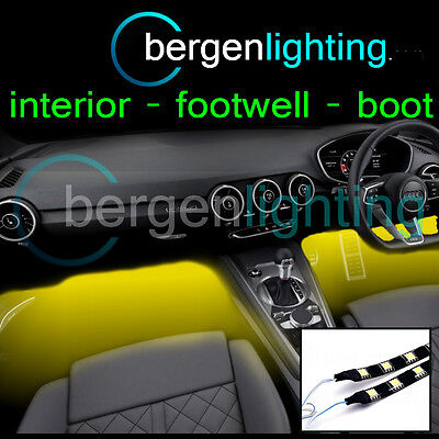 2X 500MM INTERNE GIALLE SOTTO CRUSCOTTO/SEAT 12V SMD5050 DRL MOOD