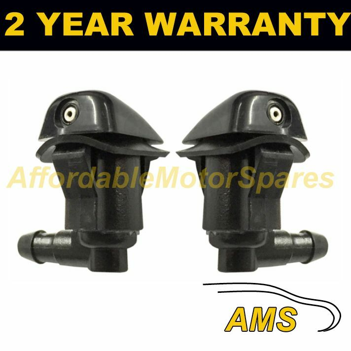 PAIR UNIVERSAL WINDSCREEN WASHER SINGLE JET ANGLED INLET PUSH FITTING 4MM WWY1