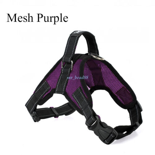 Large Pet Adjustable Dog Harness Vest Collar Soft Collar Walk Out Hand Strap XXL