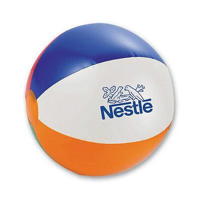 BEACH BALLS - 125 quantity - Custom Printed with Your Logo](Custom Beachballs)