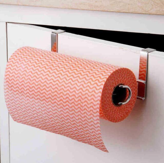 Cabinet Steel Roll Kitchen Towel Holder Rack Under Paper Toilet 1 Pcs Stainless