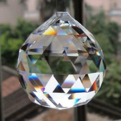 Wholesale Crystal Glass Ball Pendulum Lamp Prisms Pendants Rainbows 30mm