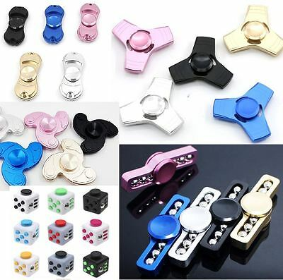 Metal Fidget Finger Spinner Hand Focus Spin Aluminium EDC Bearing Stress Toys UK
