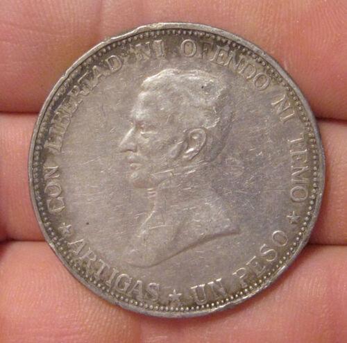 Uruguay - 1917 Large Silver Peso
