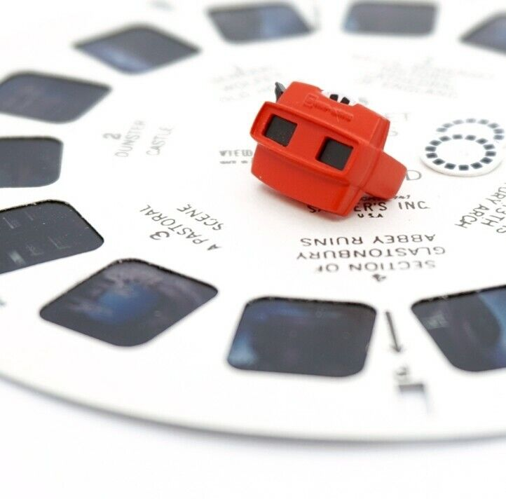 Miniature Dollhouse Accessories Red View Master with Reels 1/12th scale size