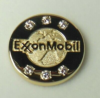 ⛽️ ExxonMobil Gas/Oil Co. employee award 14K 40 Yr.Tie pin Esso,Humble,Standard