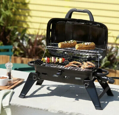 Portable Gas Grill BBQ Camping Outdoor Garden Steel Black Brand NEW UK...