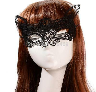 Black Lace Cat Masquerade Mask,Catwoman,Fancy Dress,Carnival,Party,Fun.Sexy. - Lace Catwoman Mask