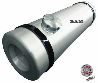 10x33 END FILL SPUN ALUMINUM GAS TANK - 11.25 GALLON - WITH LOCKING GAS CAP