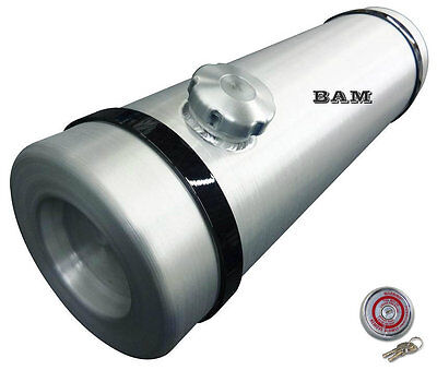 10x40 End Fill Spun Aluminum Gas Tank - 13.5 Gallon  w/ Locking Gas Cap - 3/8NPT