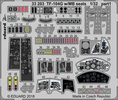 Eduard Zoom 33203 1/35 Lockheed Tf-104g Starfighter W / MB Sièges Italeri