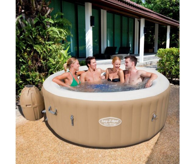 Bestway Lay-Z-Spa Palm Springs Hot Tub Jacuzzi  Air Jet With Free Chemical Kit
