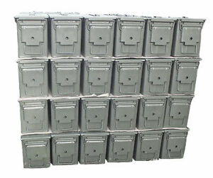 New 50. Cal Army Ammo Metal Storage Box Ammunition Surplus Tin Tool Box