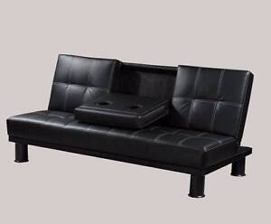 FREE DELIVERY # Stunning PU Leather Sofa Bed/ With 2 Drink Holder Salisbury Brisbane South West Preview
