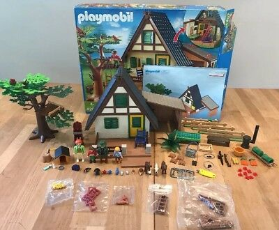 Playmobil 4207 Forest Ranger's Lodge Toy House Cottage 100% Comp. *Sealed Bags