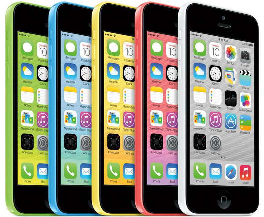 USED APPLE IPHONE 5C 8GB FACTORY UNLOCKED MOBILE SMARTPHONE VARIOUS COLOURS BUNDLE