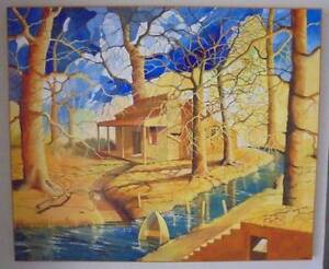 """Intriguing """"RIVER SHACK"""" original painting by GREG HALE Duncraig Joondalup Area Preview"""