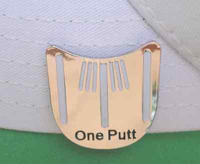 (One Putt Golf Ball Marker w/Bonus Magnetic Hat Clip - Unique Line it up design)