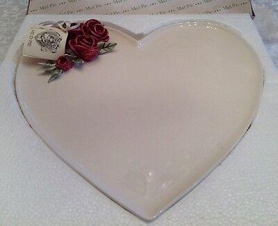 Heart Shaped Pie (VINTAGE MUD PIE HEART SHAPED PLATTER)