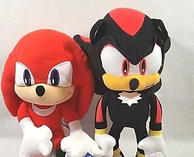 Sega Sonic The Hedgehog Video Game Sonic & Shadow Stuffed Plush Doll Toy Set