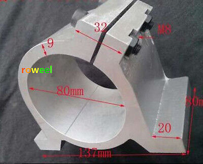 80mm Diameter Mount Bracket Clamp For Spindle Motor Top Quality T