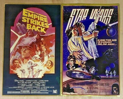 2 VTG STAR WARS:Metal Embossed 15X24 Poster ~ The Empire Strikes Back
