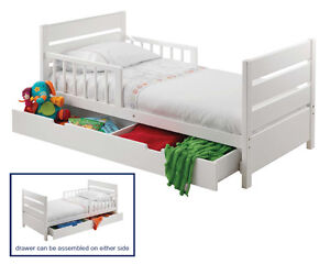Mother's Choice Toddler Bed with Drawer White (Brand New)