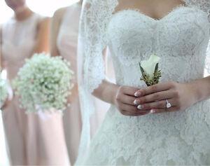 MONIQUE LHUILLIER WEDDING GOWN - JADE size US 6 (fit AU 8-10) Albert Park Port Phillip Preview