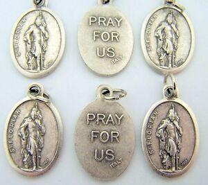 Petite-Saint-St-Florian-Pray-For-Us-Religious-Medal-Christian-Pendant-LOT-6