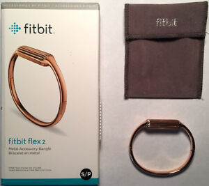 Fitbit Flex2 Rose Gold Metal Accessory Bangle/Bracelet