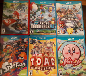 Lot of Nintendo Wii U Games in Mint Condition
