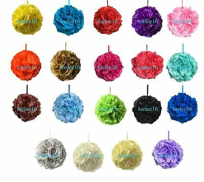 10  Flower Kissing Ball Wedding Silk Rose Party Pomander