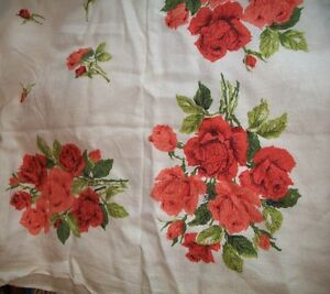 Beautiful Vintage Cotton Tablecloth