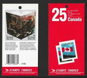 Stamps Canada 1990 40 Cent Flag Definitive X 25 BK125 #1169a