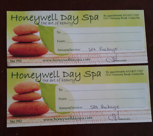 2 Spa Gift Certificates